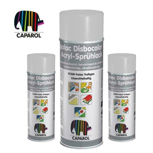 Caparol Capalac Disbocolor 781 Seidenmatt - Acryl Sprühlack 400 ml Lichtgrau RAL 7035