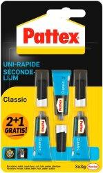Pattex Sekundenkleber Classic Alleskleber Super Glue 3x3g